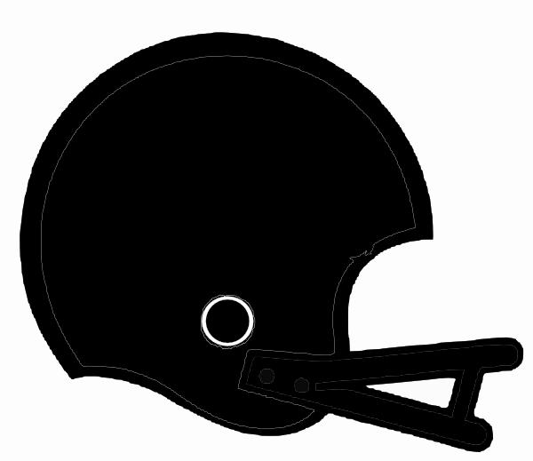 Black football helmet clip art at clker vector clip art