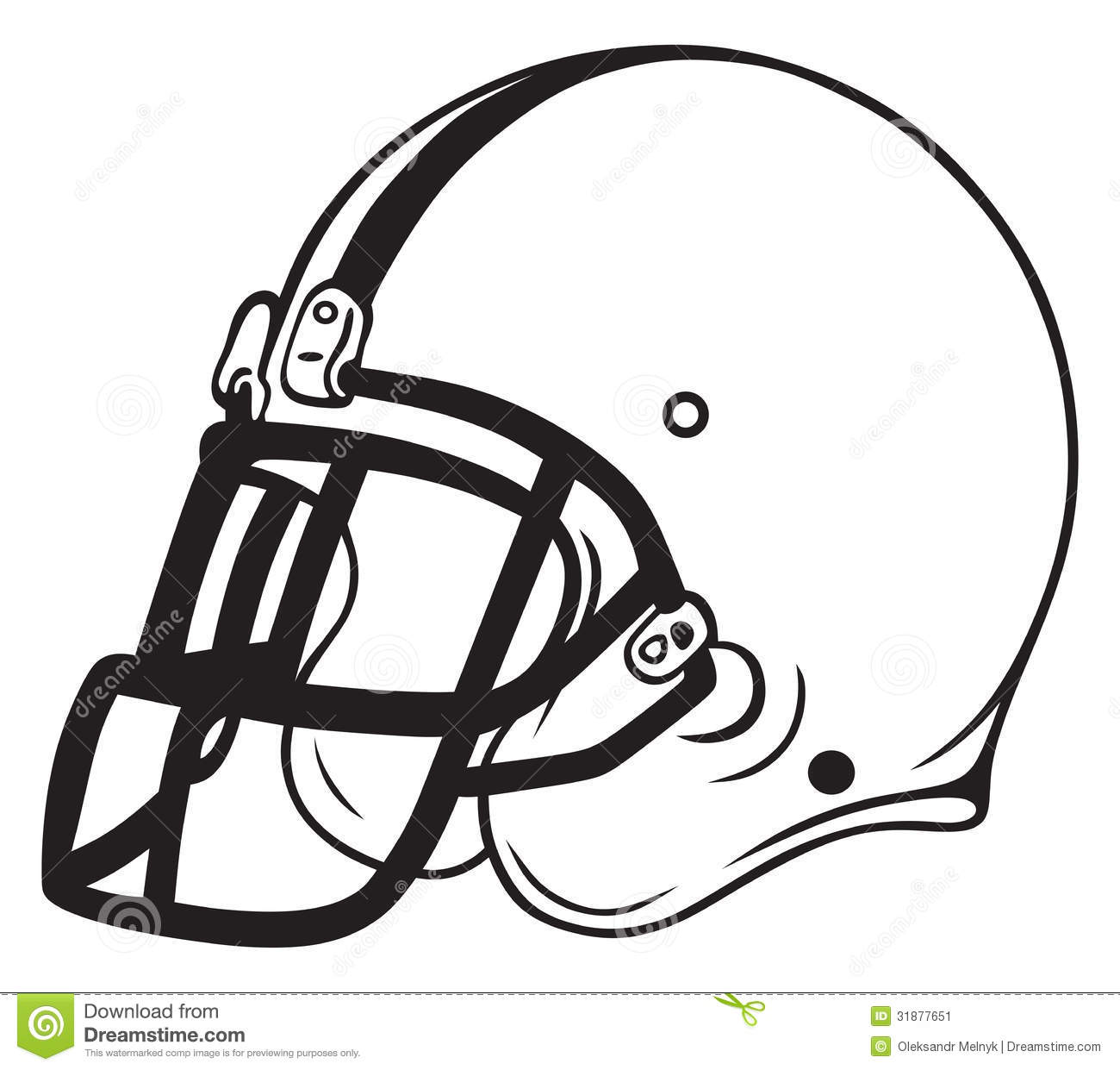 Black football helmet clipart .
