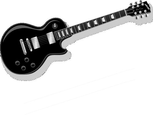 Black Guitar clip art - vector .