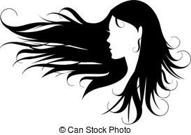 black hair - woman with curly black hair