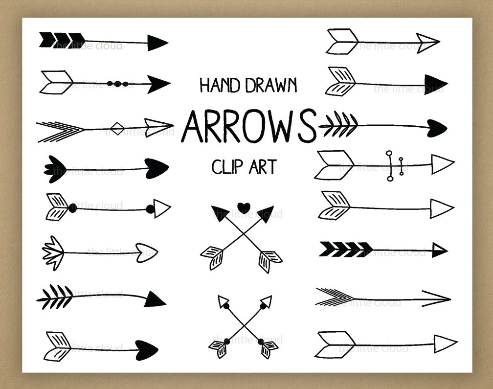 Black Hand Drawn Arrows Clipart A Set Of-Black Hand Drawn Arrows Clipart A Set Of 18 By Thelittleclouddd-4