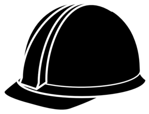 Black Hard Hat Clip Art