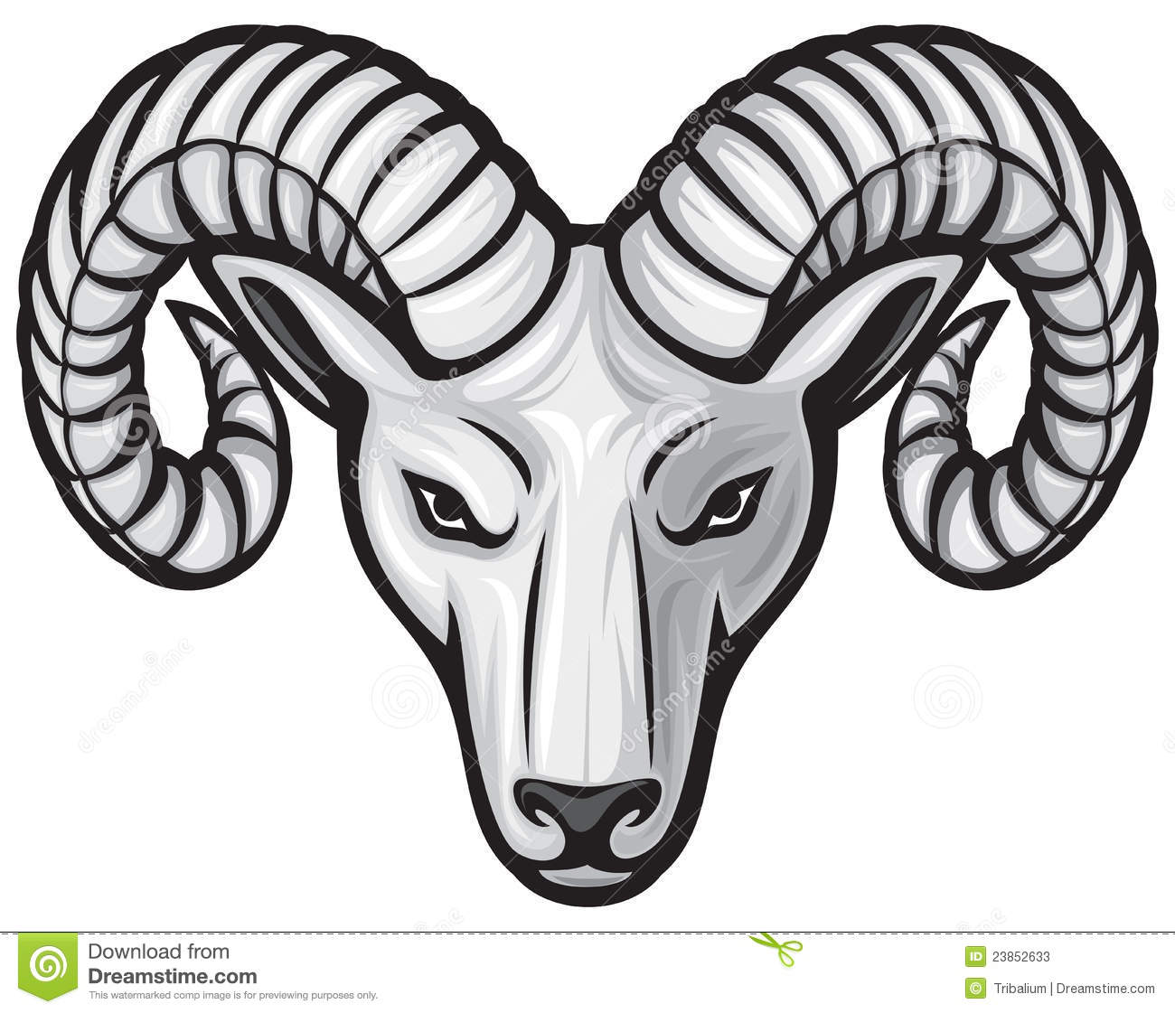 Black Head Logo Ram Clipart. Head Of The Ram White Ram