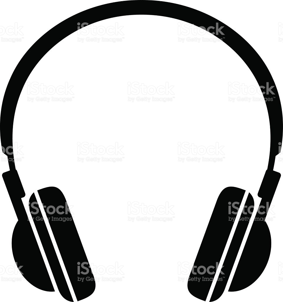Black Headphones Icon Vector Art Illustr-Black headphones icon vector art illustration-2