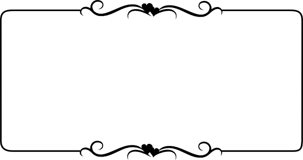 Black Heart Border Clip Art At ..