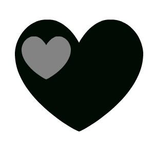 Black heart clipart 4