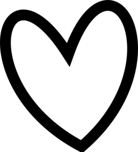 ... Black heart clipart free ...