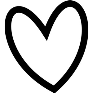 Black heart outline clipart clipartall
