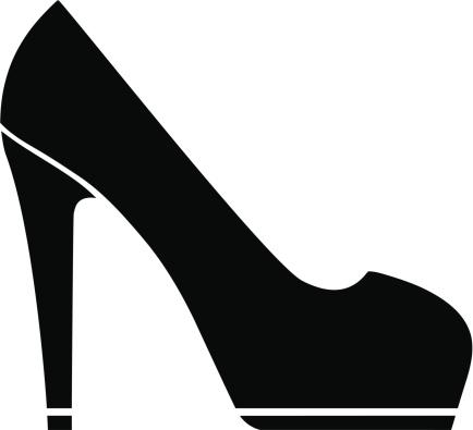 Black High Heels Clipart - .-Black high heels clipart - .-0