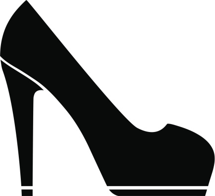 Black high heels clipart - .