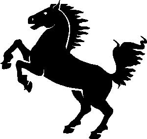 Black Horse Clip Art