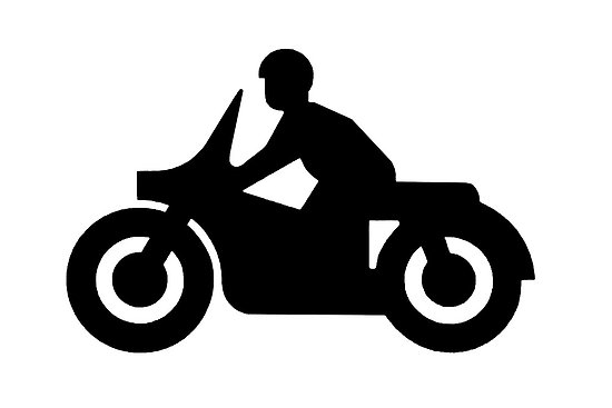 Black Motorcycle Clipart #1