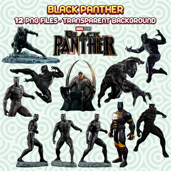 Black Panther PNG, Super Hero PNG, Black Panther Clipart, Superheroes  Clipart, Instant Download 106
