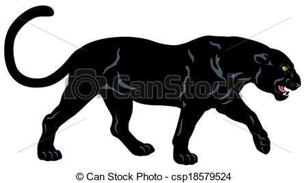 ... black panther , side view image isol-... black panther , side view image isolated on white background... ...-6