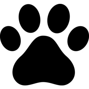 Black Paw Print Silhouette . Black Paw Print Silhouette . coordinator clipart