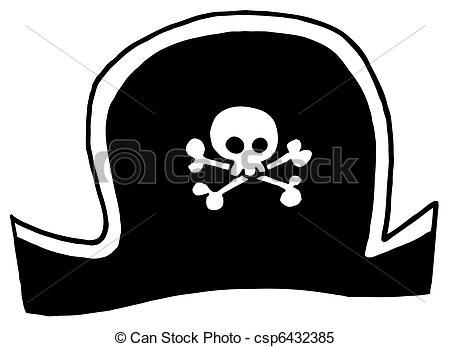 ... Black Pirate Hat Cartoon Character-... Black Pirate Hat Cartoon Character-1