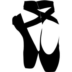 Black Pointe Shoe Clip Art-Black Pointe Shoe clip art-9