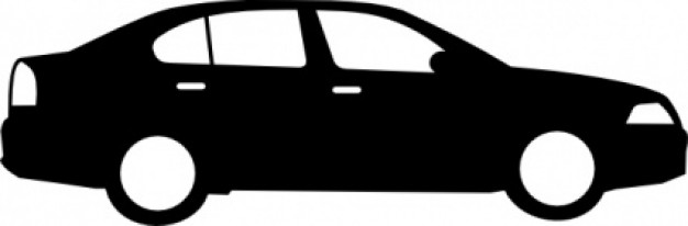 Black Sedan Car clip art .