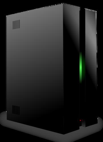Black Server Vector Drawing-Black server vector drawing-1