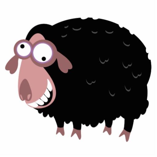 11+ Cute Black Sheep Ch... Black Sheep Clipart | ClipartLook