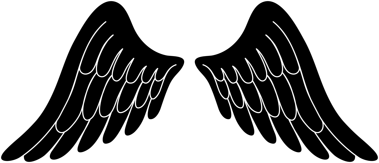 Black silhouette angel wings free clip a-Black silhouette angel wings free clip art-7