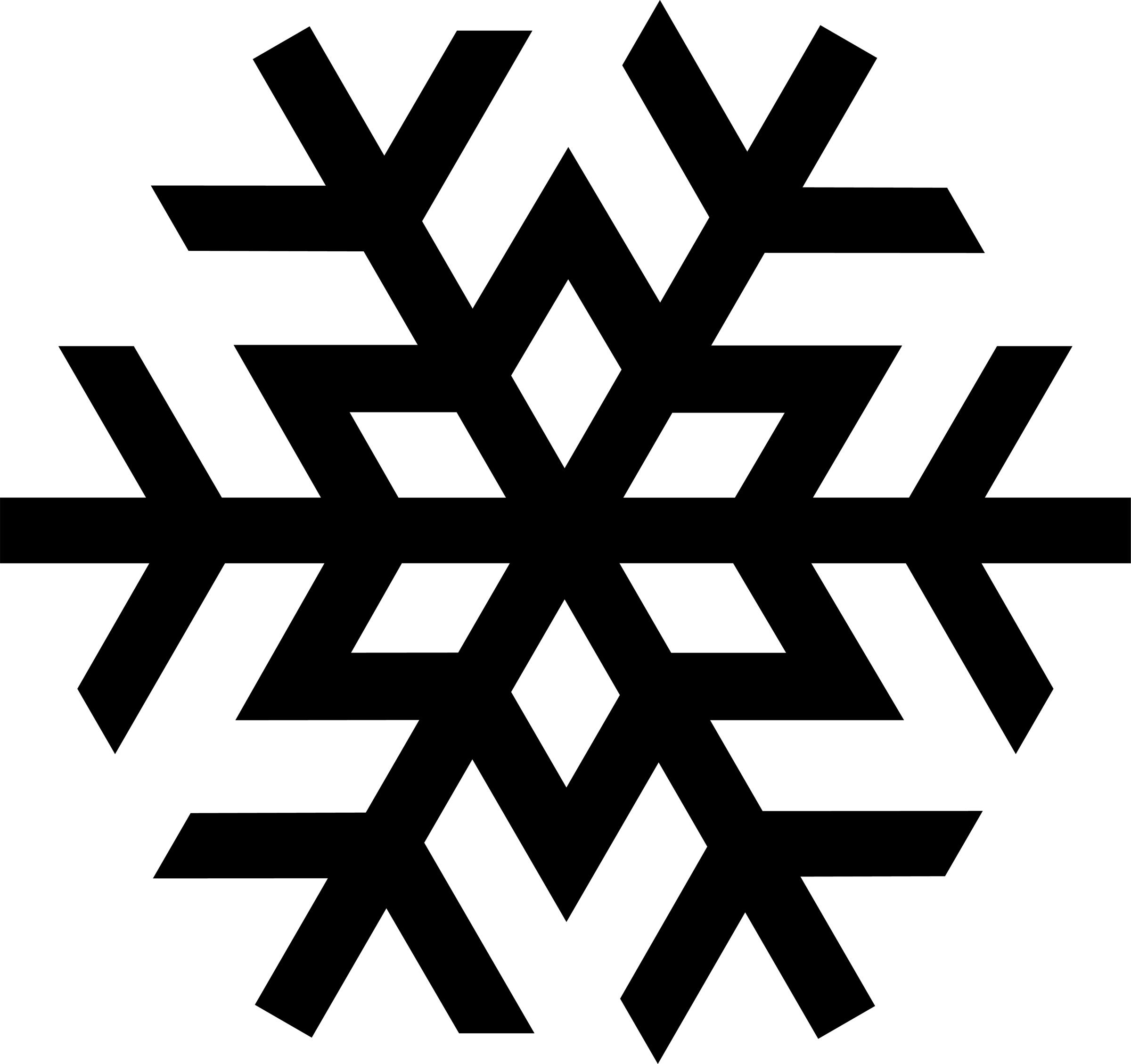 Black Snowflake Clipart .