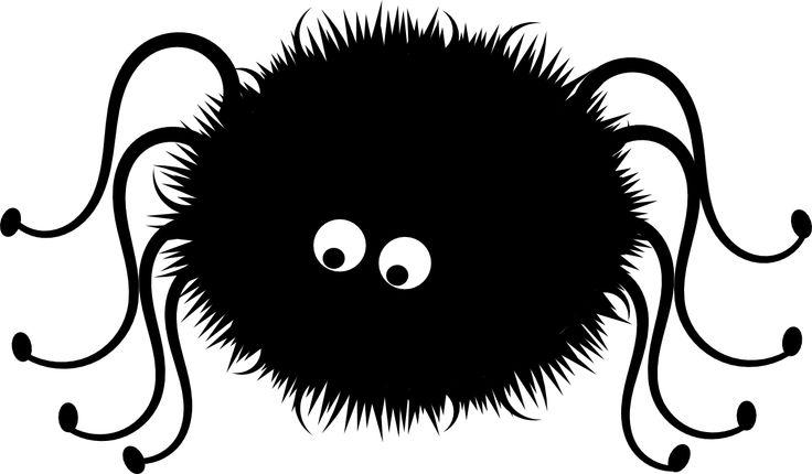 Black spider clipart 1 clipartcow