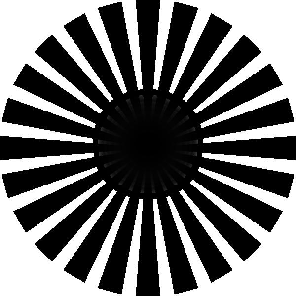 Black Sun Rays Clip Art At Clker Com Vector Clip Art Online Royalty
