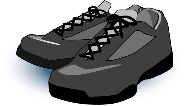 Black Tennis Shoes Clip Art At Clker Com Vector Clip Art Online