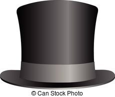 ... Black Top Hat illustration isolated on white background.