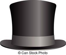 ... Black Top Hat illustration isolated on white background.