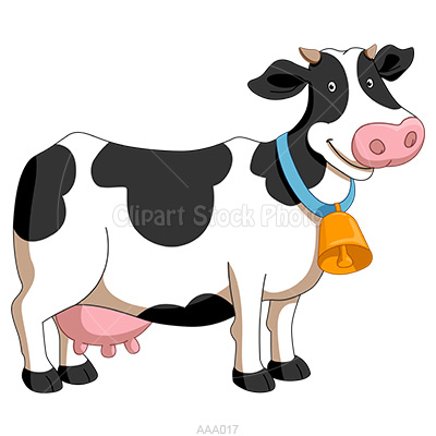 Black White Dairy Cow Clipart