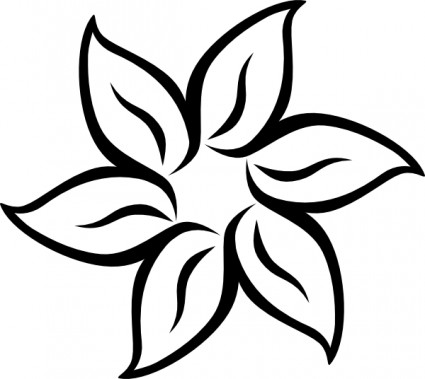 Black white flower flower drawing Free vector for free download