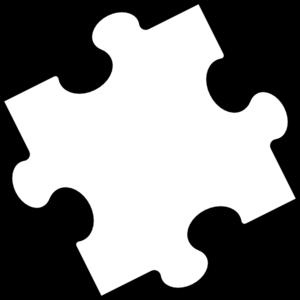 Black White Puzzle Piece Clip Art At Clker Com Vector Clip Art