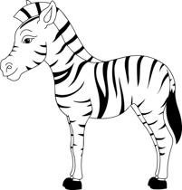 Black White Zebra Clipart-black white zebra clipart-3