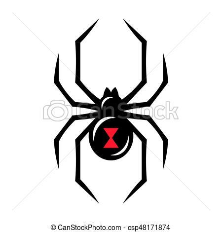 Black widow spider icon - csp48171874