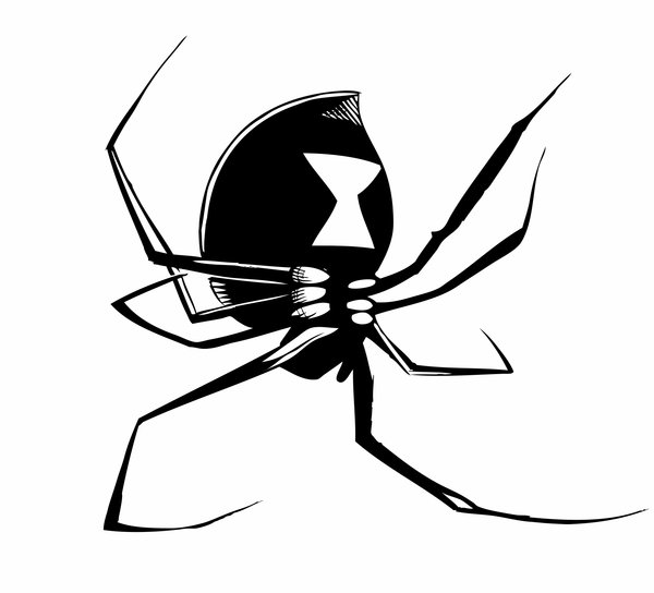 Black Widow Spider by Sam-V3 on Clipart library
