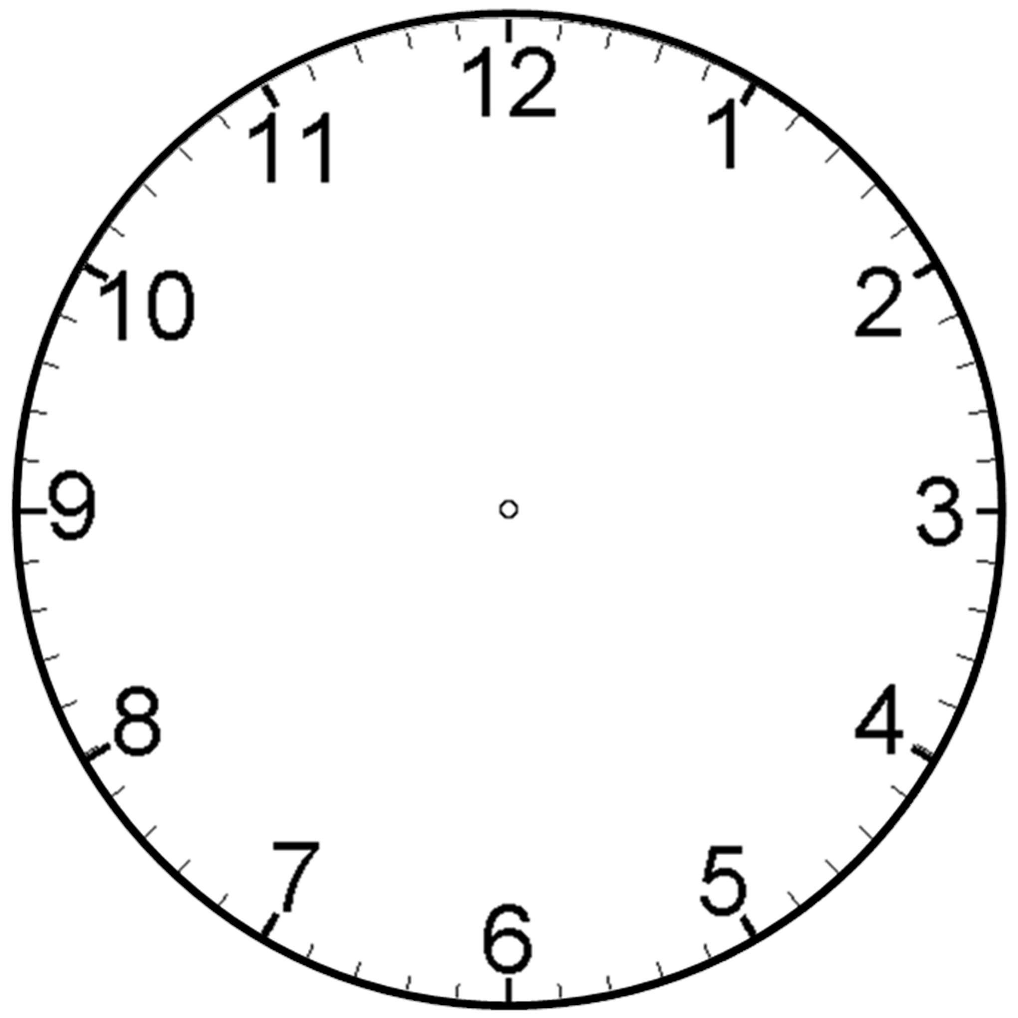 blank clock clipart - Blank Clock Clipart