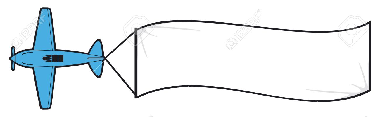 Blank Banner Vector Clipart