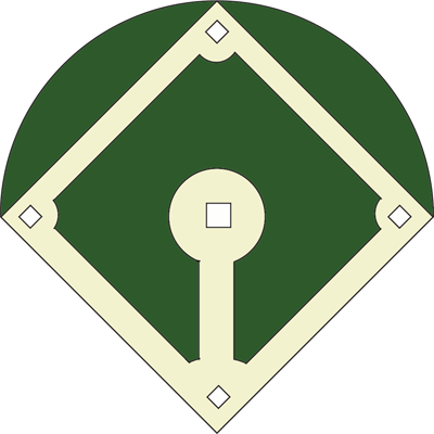Blank Baseball Diamond Diagram u0026middot; Baseball Field Clipart