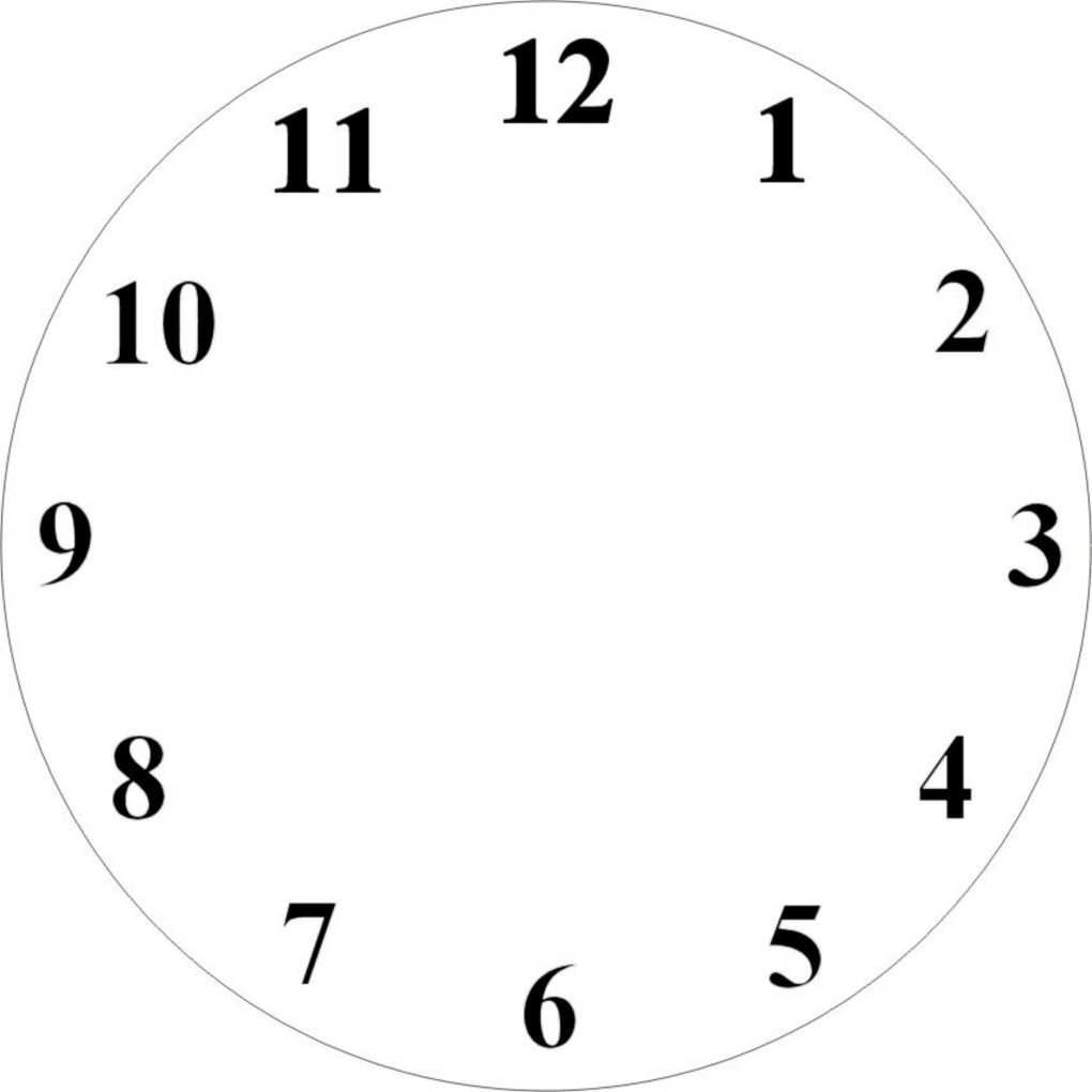 Blank Clock Clipart - Gallery