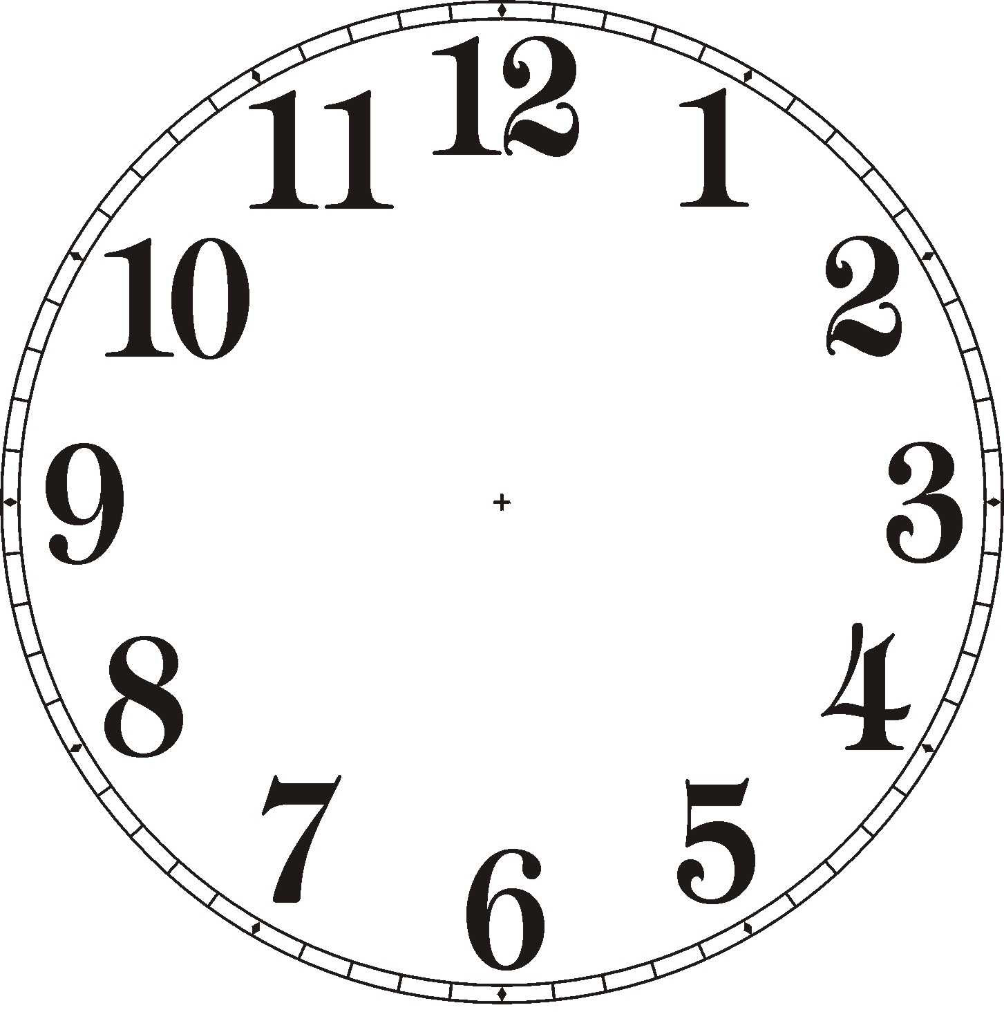 Blank Clock Clipart - clipart - Clock Face Clip Art
