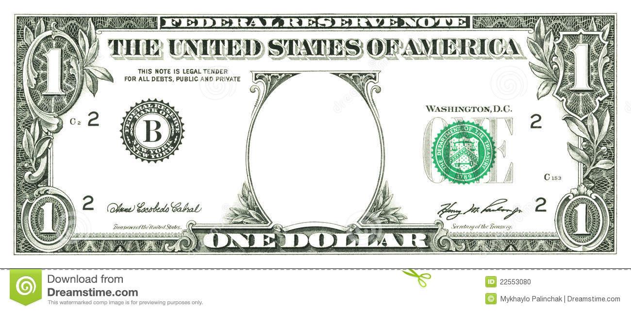 Blank dollar bill clip art