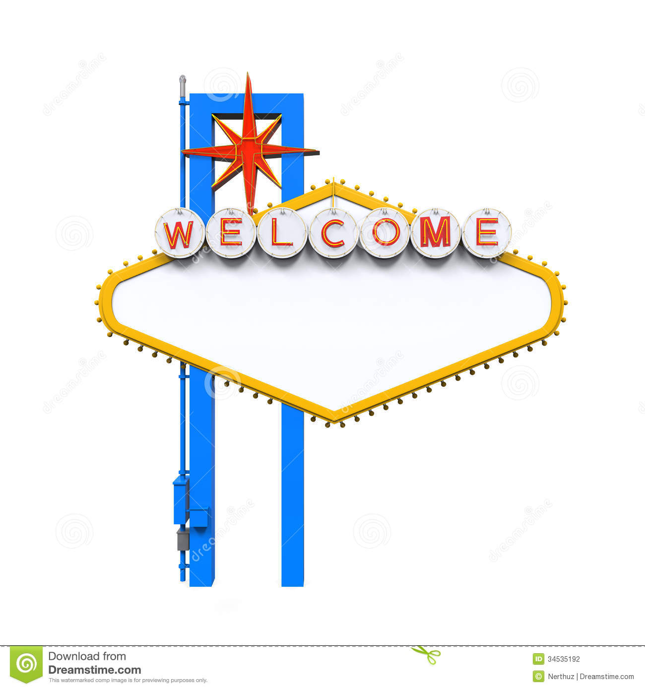Blank Las Vegas Welcome Sign Stock Photography