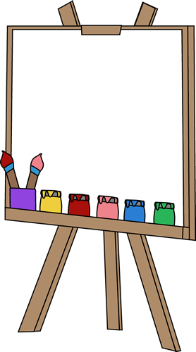 Blank Paint Easel Clip Art Blank Paint Easel Image