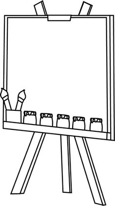 Blank Paint Easel Clip Art Image-Blank Paint Easel Clip Art Image-10
