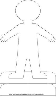 Blank Paper Doll Clipart