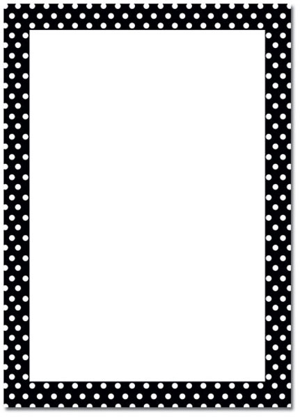 Blank Party Invitations Polka Dot Border 152990