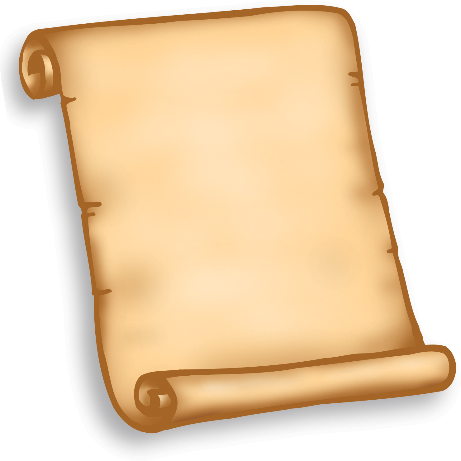 Blank scroll clipart top hd .