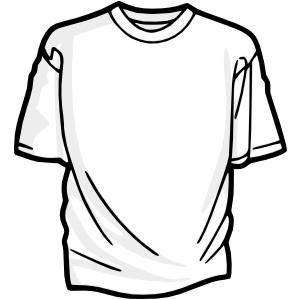 Blank T Shirt 2 Clip Art-Blank T Shirt 2 clip art-1